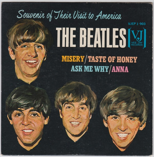 beatles souvenir of their visit to america ep : misery / taste of honey / ask me why / anna